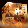 Doll House DIY Miniature Furniture House  Assembling DIY Miniature Model Birthday Gift For Kids Girls Women