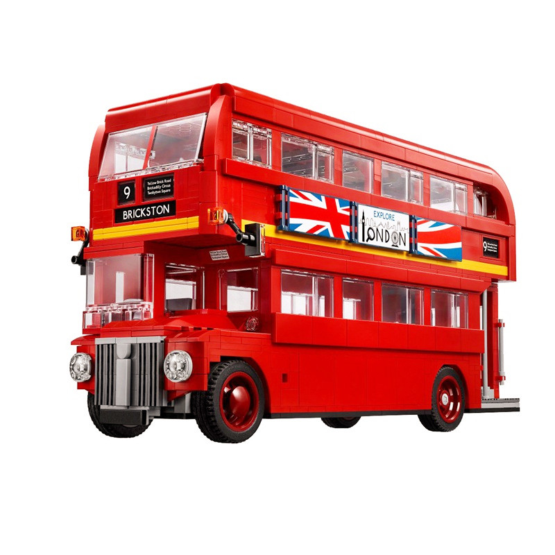 DIY Model London Bus Genuine Technic Series The Set Building Blocks Bricks Compatible legoingly 21045 Toys for Children birthday wange mechanical application of the crown gear model building blocks for children the pulley scientific learning education toys