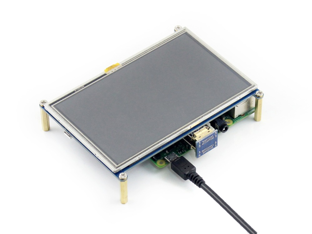 Modules 5inch HDMI LCD (with bicolor case) Touch Screen LCD Module Support Raspberry Pi 3 B/2 B /A+ /B+ Banana Pi / Pro Driver P modules 7inch hdmi lcd b with bicolor case 800 480 capacitive touch screen for raspberry pi 3 2 b