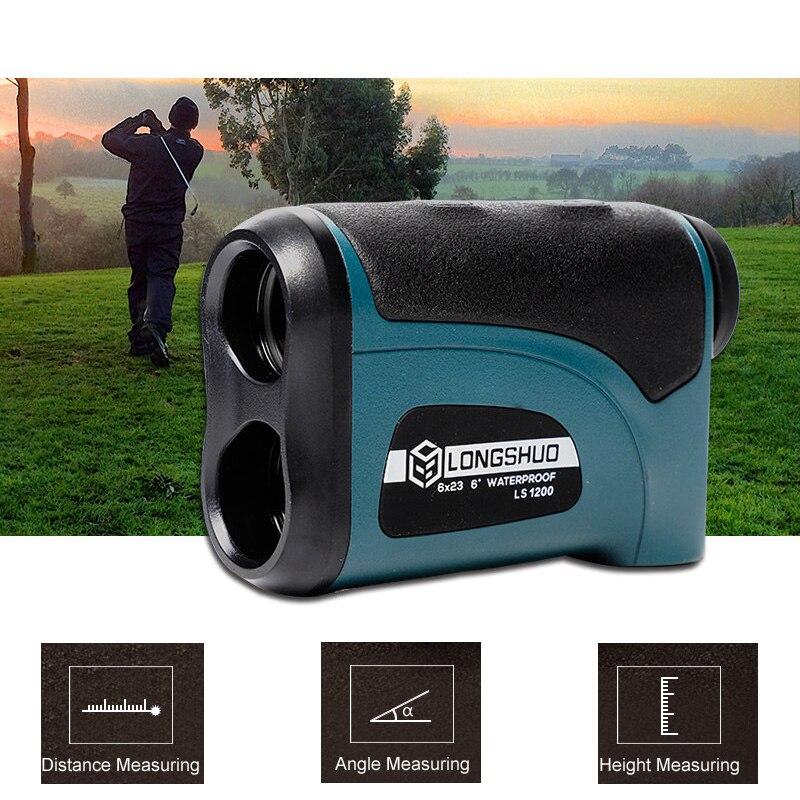 Angle Measuring Tool Waterproof Digital Range Finder Laser Rangefinder 800m 1200m Telescope Laser Distance Meter Golf Hunting