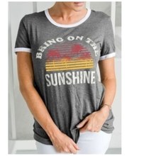 Brand New T Shirt Women Fashion Bring on The Sunshine Letter