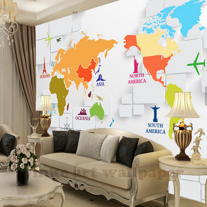 World map wallpaper for bedroom modern design living room 3d wall world map wallpaper for bedroom modern design living room 3d wall paper roll 3d stereoscopic tv background wallpapers mural in wallpapers from home gumiabroncs Choice Image