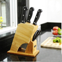 New Fashion Multifunction Bamboo Knife Holder Creative Kitchen Accessories High Quality Knife Blocks Free Shipping