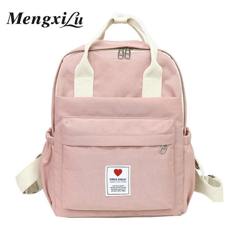 Brand Large And Small Lady Fashion Laptop Backpack Women Sch