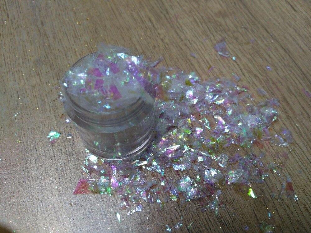 ✅Luxury Shine Rainbow White Solvent Resistant Glitter Iridescent ...