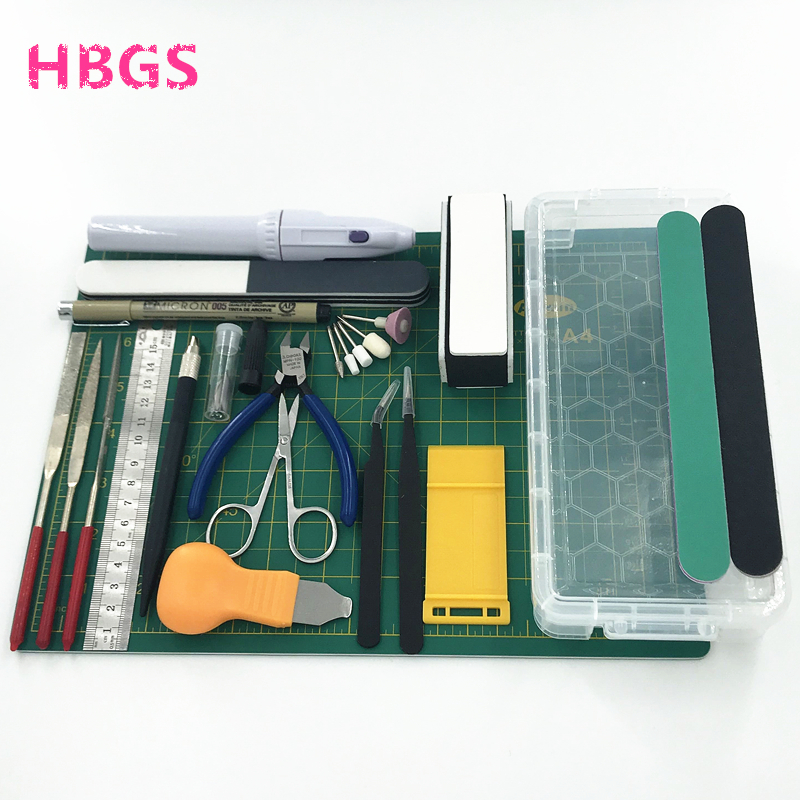 Hobby Modelling Tools Set For Gundam Tools Model DIY Accessories Cutting Mat Self Healing Grinding Machine Polishing Tools