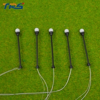 50PCS HO Scale Train Layout Model Lamppost Lamp