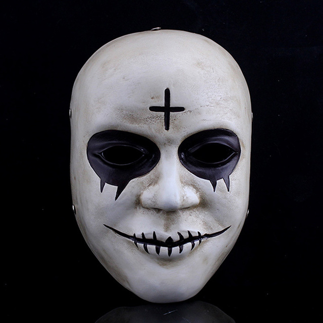 hd resin devils the purge anarchy halloween mask fancy dress horror killer cross props - Purge Anarchy Masks For Halloween