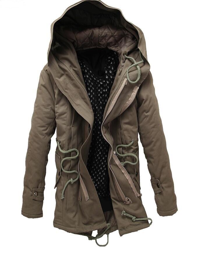2017 High quality men Casual long coat Warm winter coat