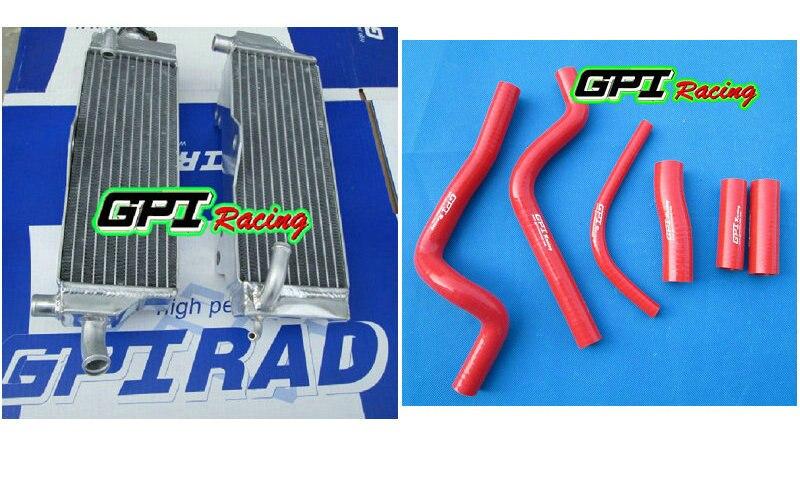 aluminum racing RH&LH Radiator + HOSE for  Honda CR500 CR500R CR 500R 1989 89