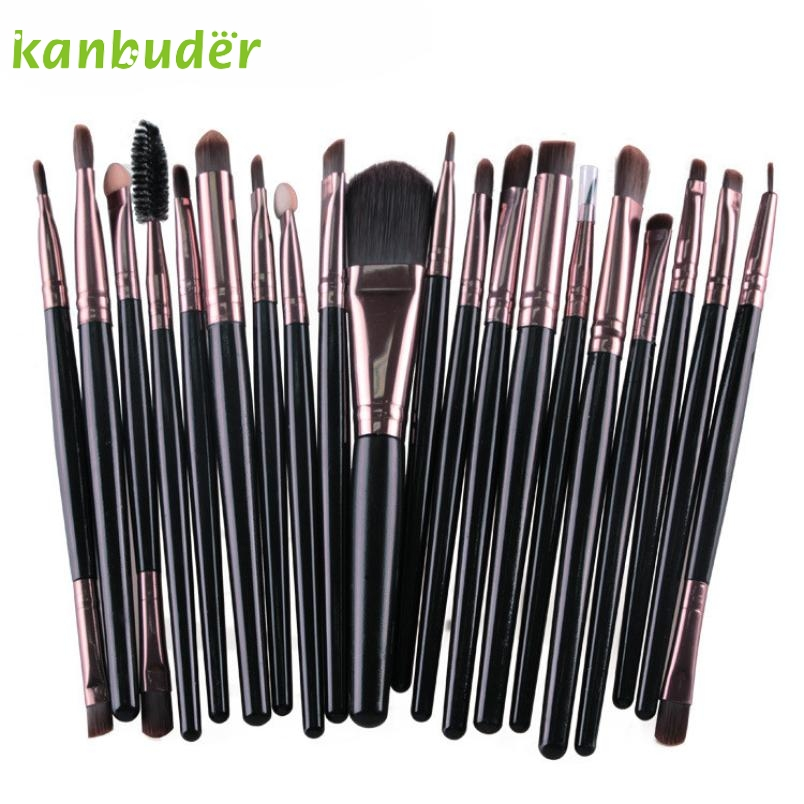KANBUDER 20 unids Profesional sistema de Cepillo Del Maquillaje herramientas maq