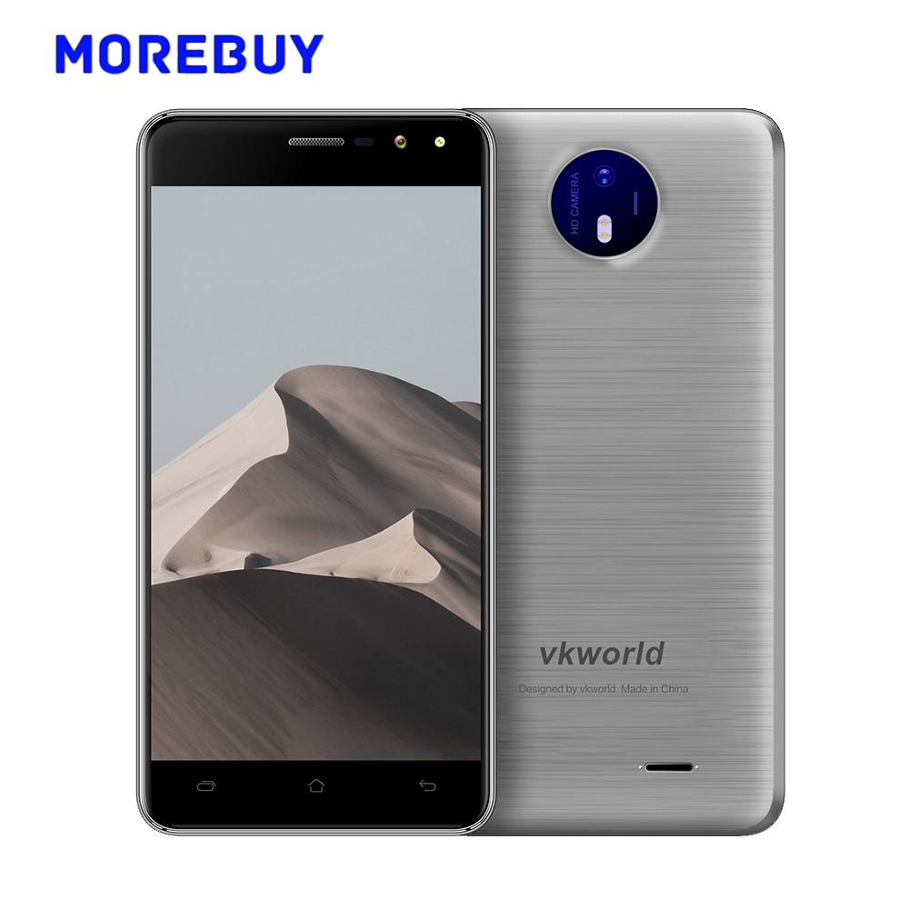 "Vkworld F2 Smartphone MT6580A Quad Core 1.3GHz 16G ROM 2G RAM Android 6.0 Cellphone 5.0""HD 1280*720 IPS 3G Mobile Phones 8.0MP"