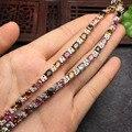 925 libras esterlinas de prata natural turmalina pulseira para as mulheres pulseiras jóias da moda para as mulheres