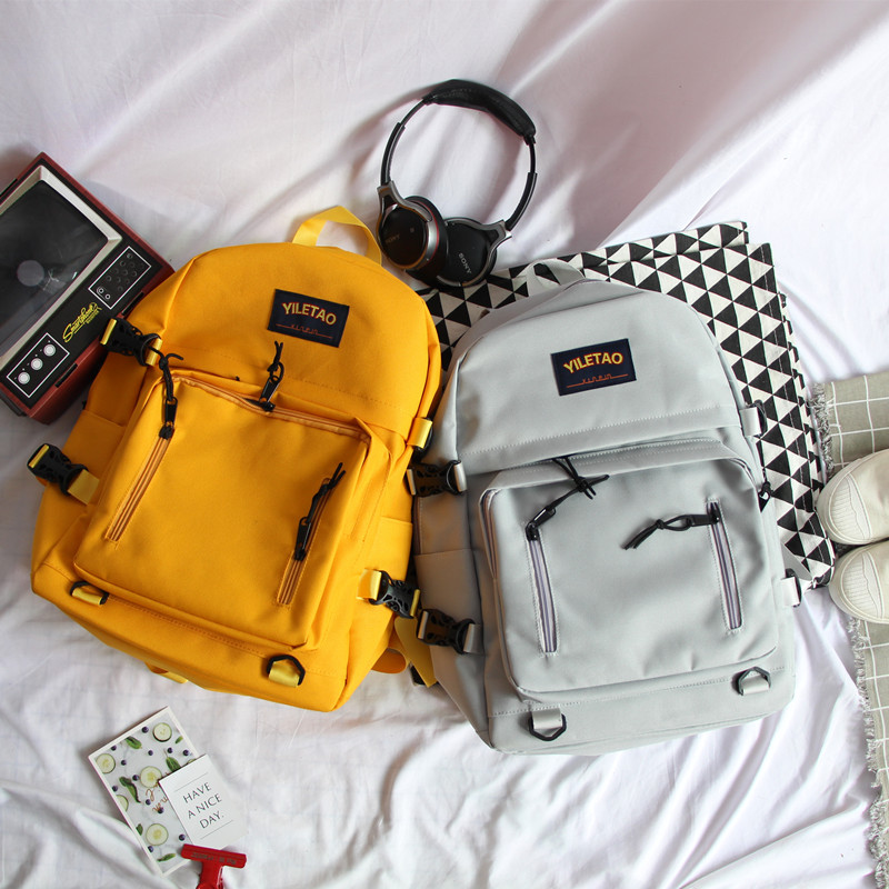 Cute Backpack Female Backpack For Students In Campus High - Capacity Ulzzang Backpack Backpack For Female And Male Couples