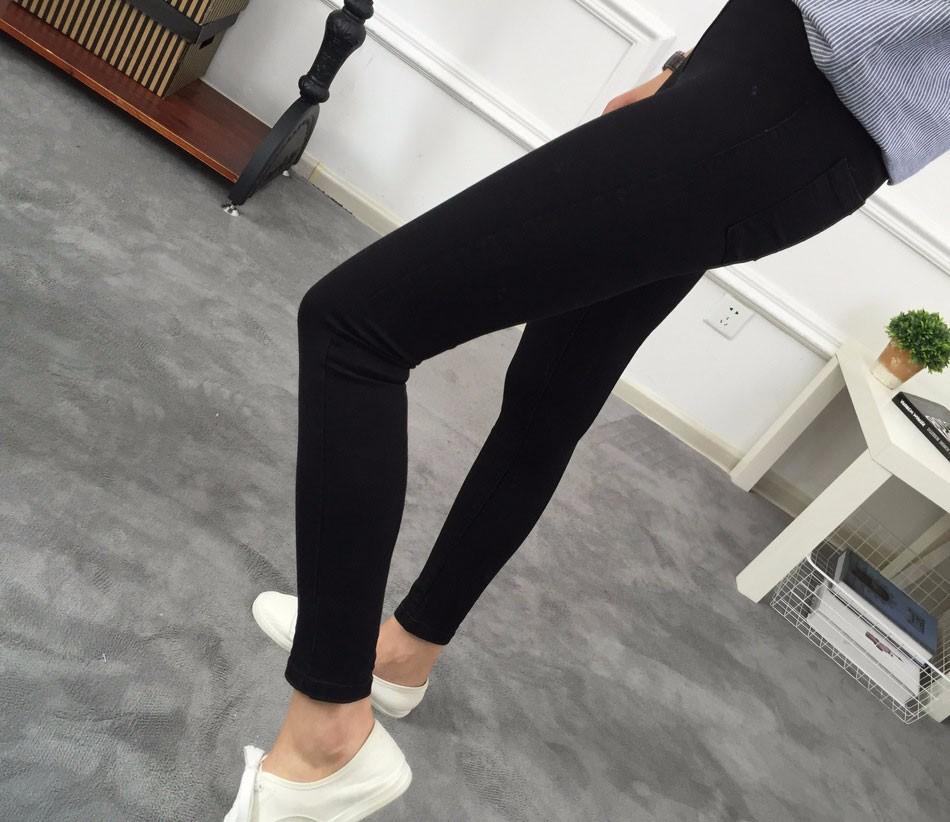 BIVIGAOS Basic Skinny Womens Jeans Ankle Pencil Pants Slim Elastic Denim Pants Jean Leggings Female Cotton Jeggings Jeans Women 14