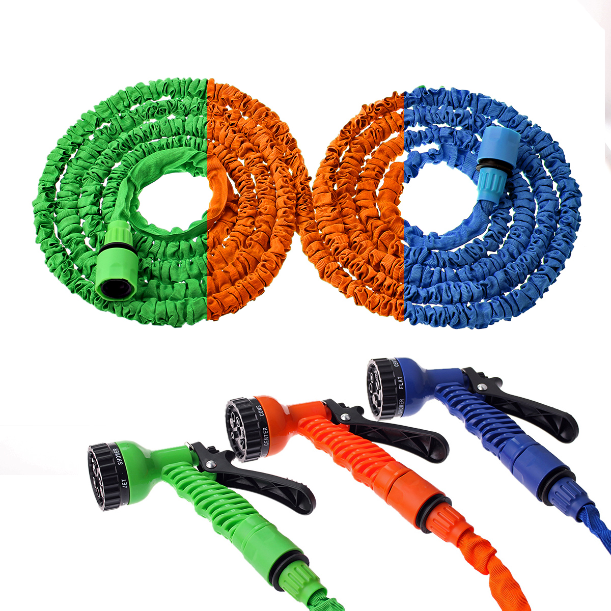 25FT-150FT Garden Hose Expandable Magic Flexible Water Hose EU Hose Plastic Hoses Pipe With Spray Gun To Watering Hot Selling