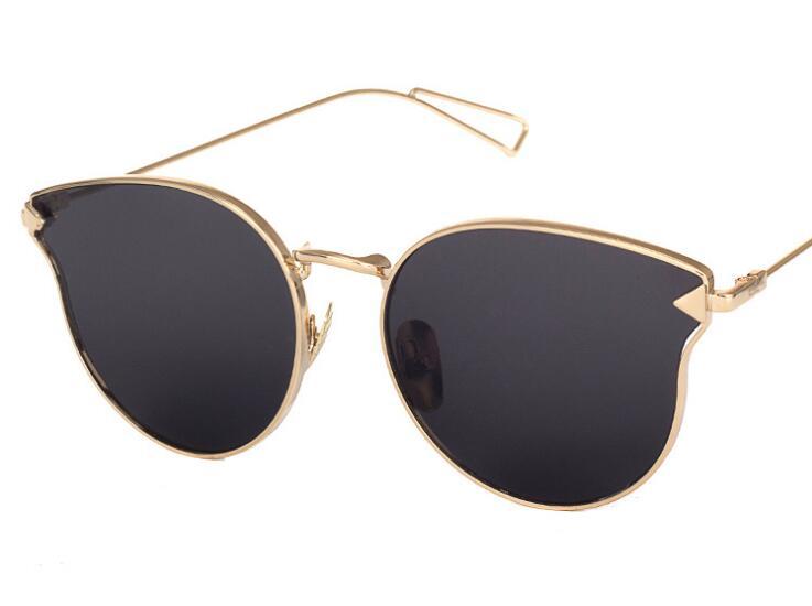 J51 Fashion Brand Designer Sunglasses Women Reflective Mirror Sun Glasses  metal Frame Arrow Leg Glasses UV400 cdd652424b