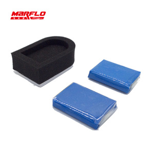 Image 3 - Marflo Magic Clay Bar 2pcs with Sponge Applicator Blue Yellow Auto Cleaning Detailing Clean Clay Bar by Brilliatech