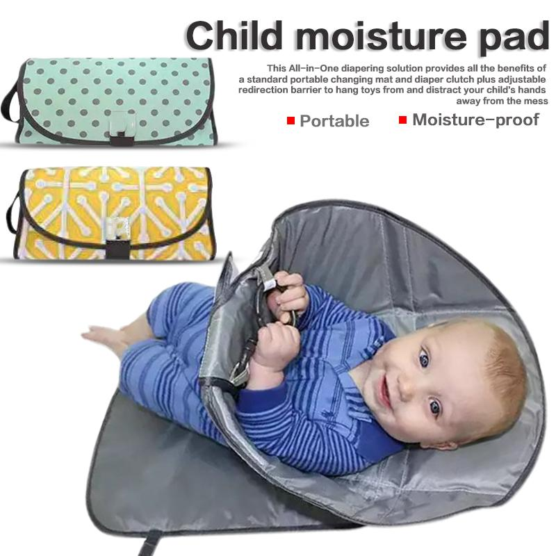 Multifunction Outdoor Portable Clean Hands Diaper Clutch Changing Station Folding Waterproof Moisture-Proof Baby Changing Pad