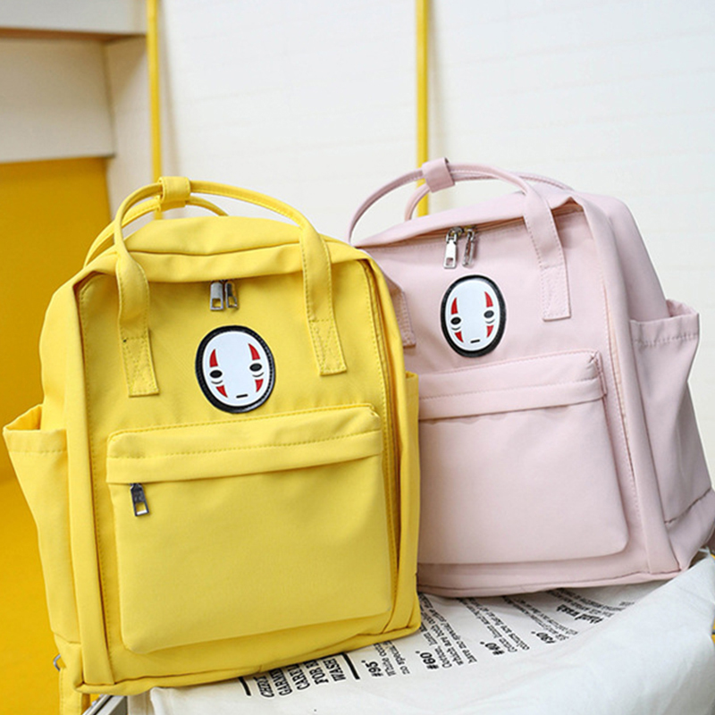 Women Backpack Mochila Laptop Printing-Bag Travel-Bag Yellow Student For College New