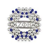 Прямая поставка ZETA PHI BETA Sorority круглая форма ZPB жемчужные булавки брошь ювелирные изделия