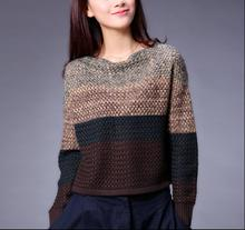 2016 New Autumn Winter Classic Informal Crocheted Lengthy Sleeve Quick Free Pullovers Sweaters Plus Dimension Xl Ladies D297
