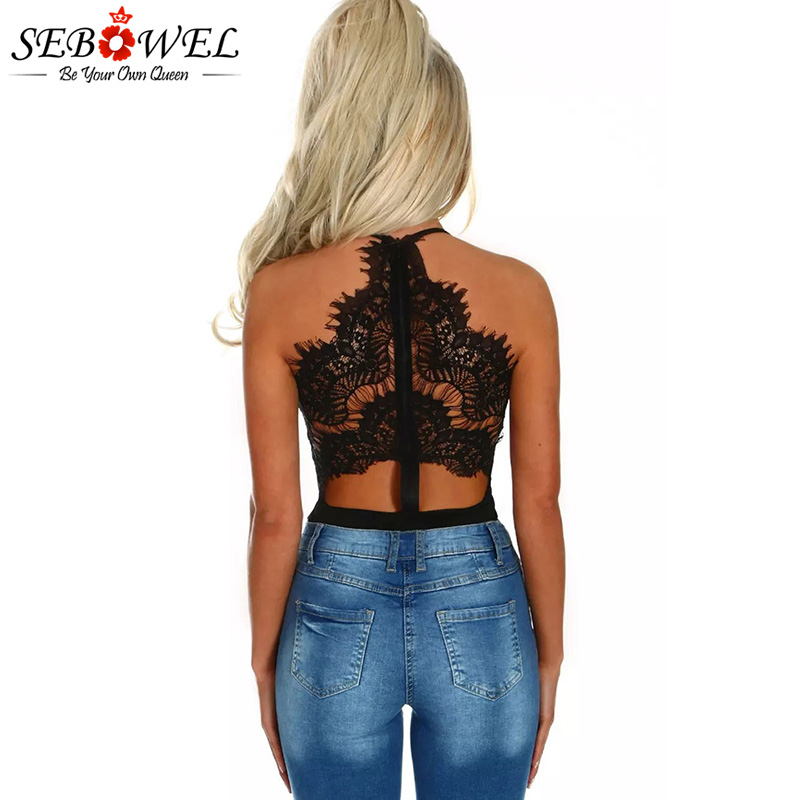 Black-Eyelash-Lace-Allure-High-Waisted-Bodysuit-LC32258-2-3