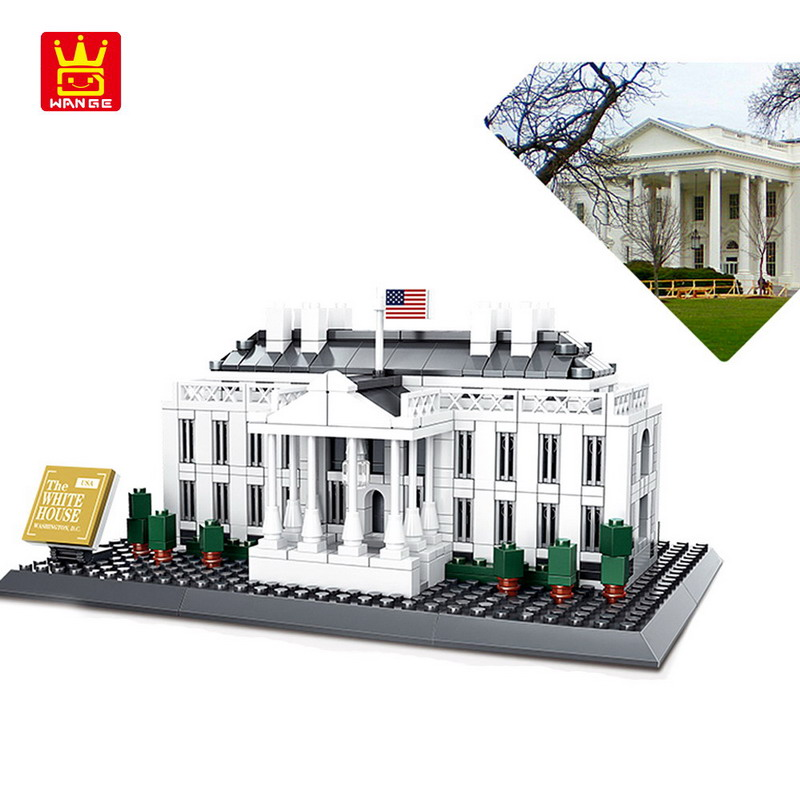 Wange City Architecture The White House Model Building Blocks Enlighten Figure Toys For Children Compatible Legoe