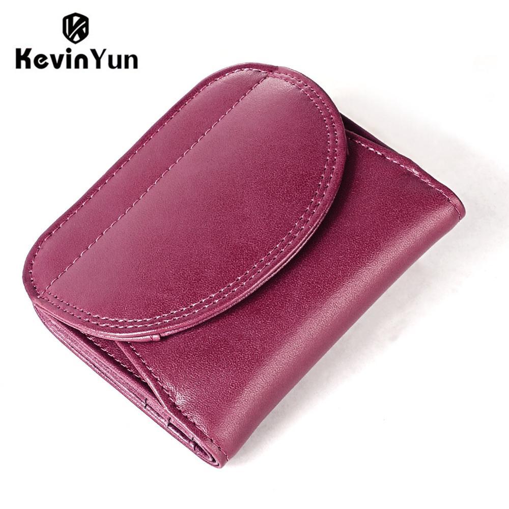 KEVIN YUN Fashion Women Wallets Genuine Leather Female Small Wallet Purse Mini Coin Purse