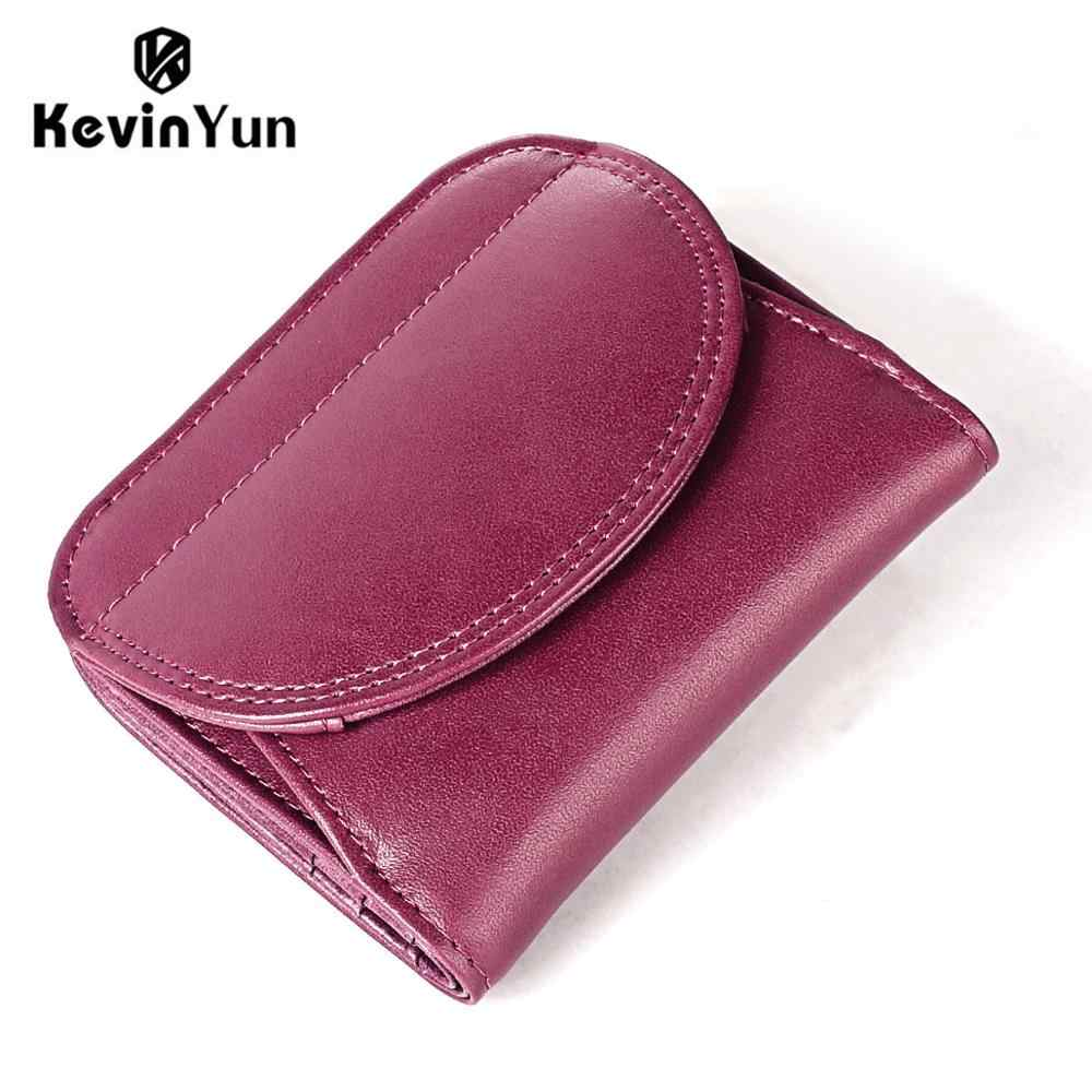 KEVIN YUN fashion women wallets genuine leather female small wallet purse mini coin purse