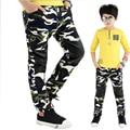 Meninos calça Casual Meninos calças Crianças calças de Camuflagem Ao Ar Livre Calças Camo Exército Crianças Design Colorido calças para 5-13 anos bebê