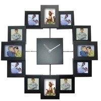 Large Photo Frame Clock Home Decoration Colorful Frame Clock Fashion Clocks Deco Reloj 3D Diy Wall