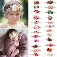 PUDCOCO 3 stücke Kinder Baby Hochzeit Blume Haar Girlande Stirnband Blumenkranz Fotografie Festival Elastische Floral Haarband
