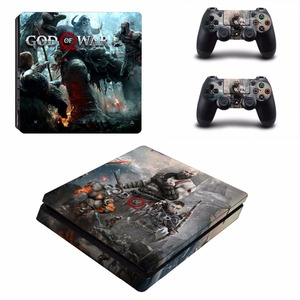 Image 4 - God of War 4 PS4 Slim skóry naklejka naklejka do kontrolera Dualshock PlayStation 4 konsola i 2 kontrolery PS4 Slim skórki naklejki ścienne winylowe