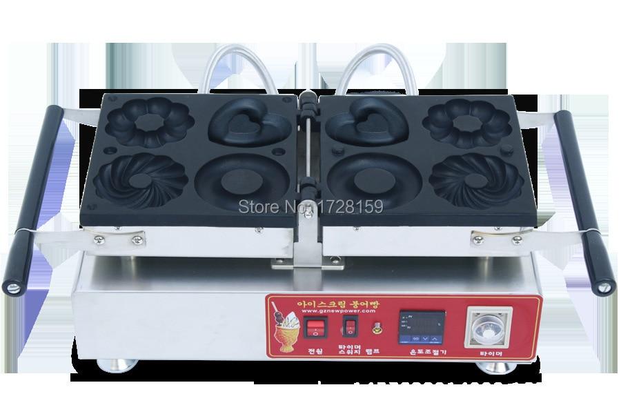 New  design popular Snack four shapes  Electric Automatic Mini Donut Making Machine, heart shape donut maker,  doughnut machine