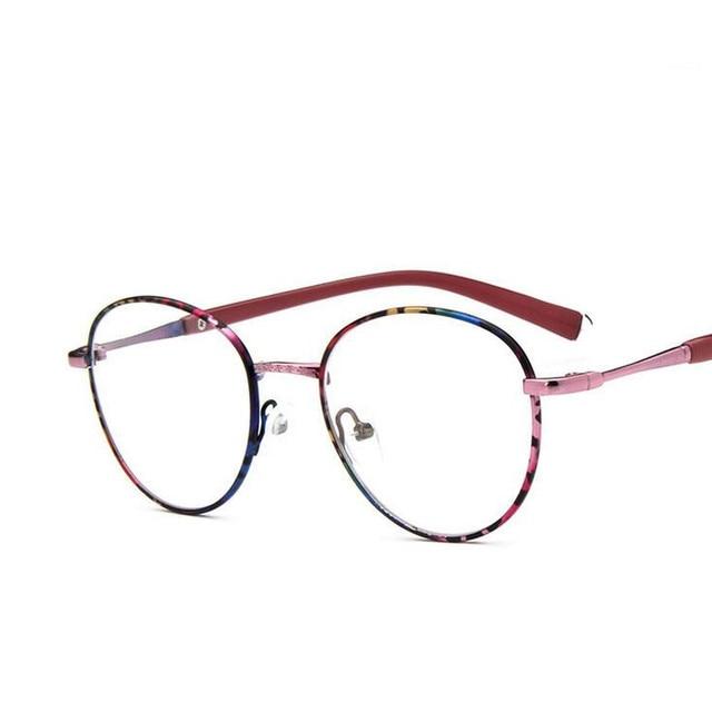 796281149377c Retro Metal Round Thin Vintage Glasses Frame Prescription Students Fashion  Glasses Oculos De Grau Femininos Frame Eyeglasses