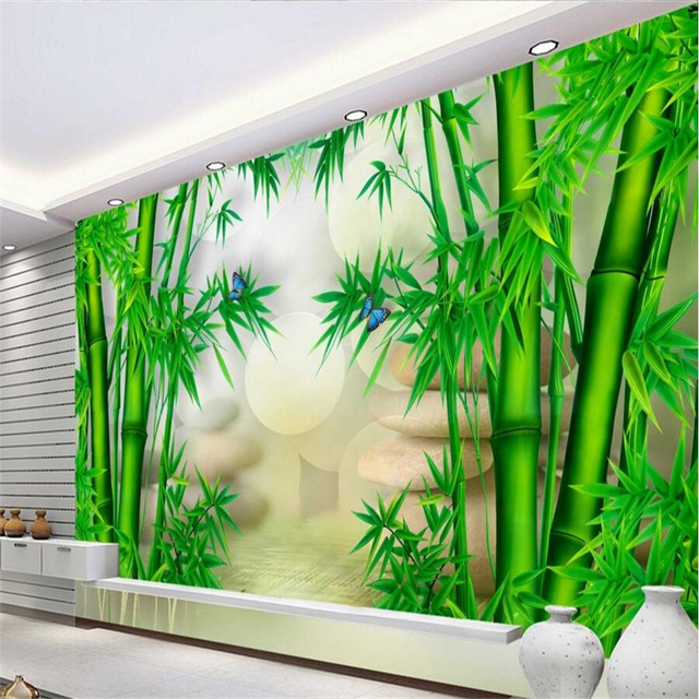 beibehnag Custom wallpaper Papel de paredeBamboo 3D chinese