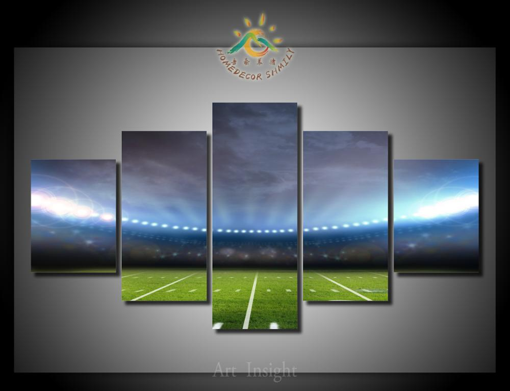 5 Pieces/set football field road Wall Art Paintings Picture Paiting Canvas Paints Home Decor Printed Painting Wall Art Picture