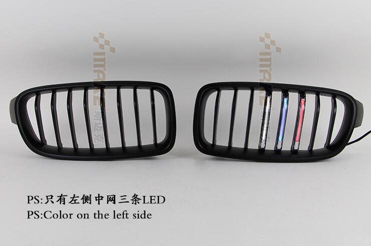 front grill bumper grille with LED DRL daytime running light, night running light, Decorative lamp for BMW F30/F35 F10/F18, 2pcs free shipping bumper grille grill drl running driving led fog lamp lights for 97 06 vw golf mk4