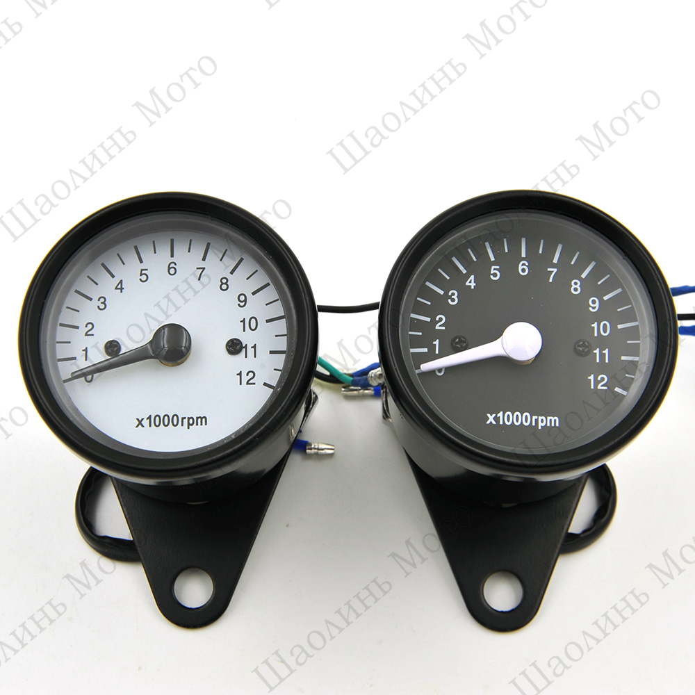 CAFE RACER BOXER TWIN BOBBER TRACKER NEW 13000RPM Universal Motorcycle Mechanica Scooter Analog Tachometer Gauge Free Shipping