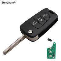 For Hyundai IX30 I20 I30 3Buttons Remote Key Fob 433MHz CHIP ID46 TOY40 Blade With Logo