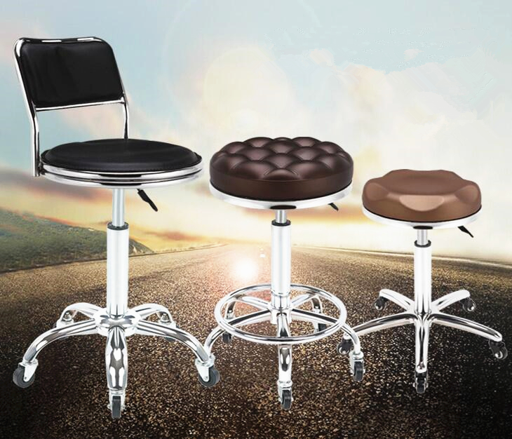 Simple Design Lifting Chair Swivel High Quality Rotating Adjustable Height Pub Bar Stool Office/Hair Salon High Quality cadeira 240337 ergonomic chair quality pu wheel household office chair computer chair 3d thick cushion high breathable mesh