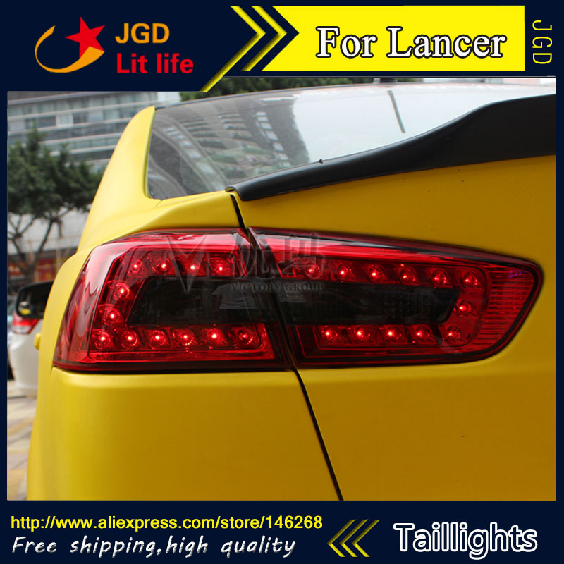 Car Styling tail lights for Mitsubishi Lancer 2010-2013 LED Tail Lamp rear trunk lamp cover drl+signal+brake+reverse car styling tail lights for hyundai santa fe 2007 2013 taillights led tail lamp rear trunk lamp cover drl signal brake reverse