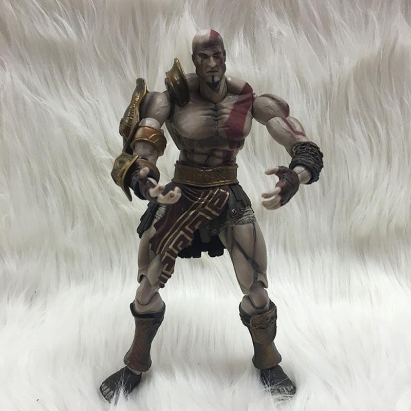 Stock sale SQUARE ENIX PlayArts KAI God of War Kratos PVC Action Figure Collectible Model Toy 22cm Holiday Gifts