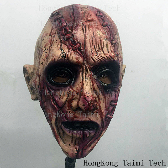 Halloween Masks Surgery Scar Latex Mask Scary Horror Demon Parasite Zombie Vampire parasitic vampire terror Thriller Monster
