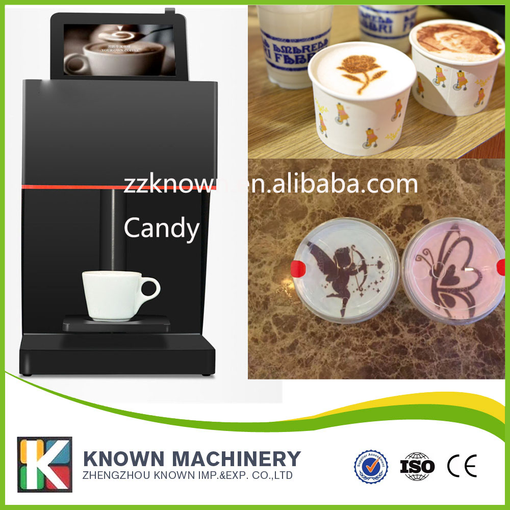 WIFI operated Edible ink printer Art Beverages Coffee Printer coffee Food printer Coffee Pull Flower selfie coffee printer