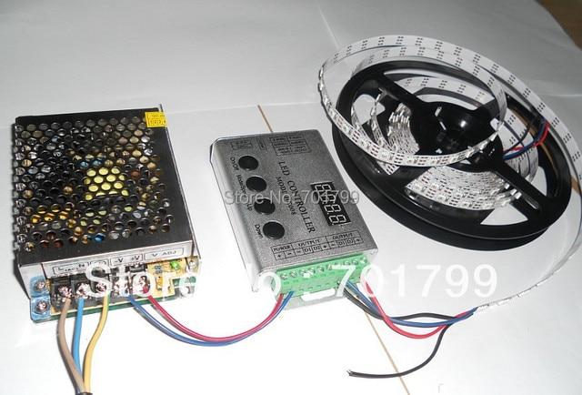 4m DC5V 60pixels ws2811 built-in led digital strip+RF controller+5V/60W power supply