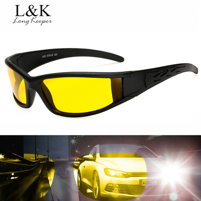 8f2cab72d6 Polarized Night Driving Glasses For Men High Quality Anti Glare Safety HD  Night Vision Square Sunglasses Eyewears By Long Keeper
