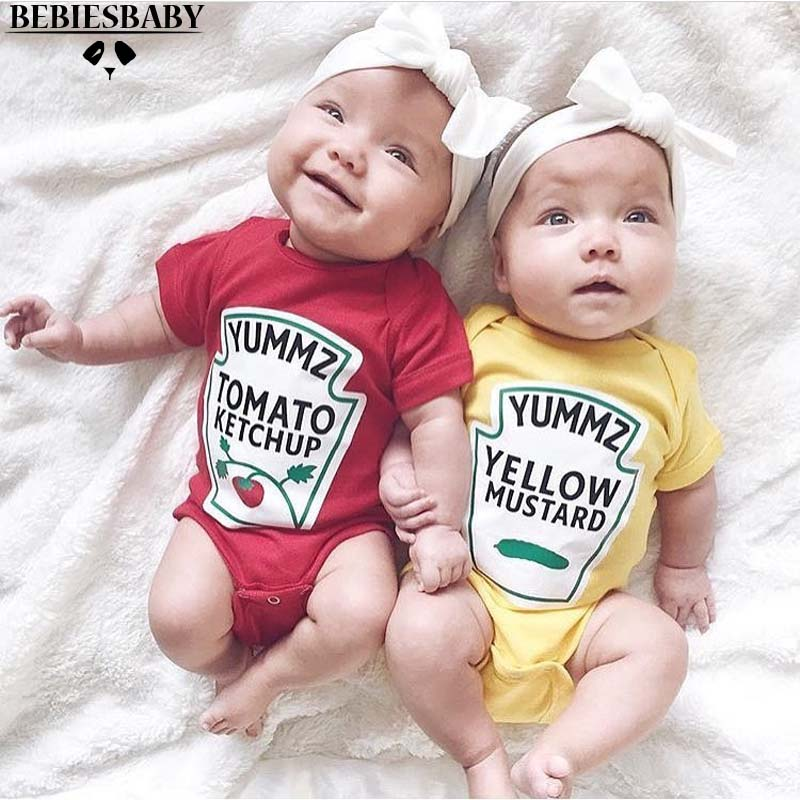 INS Character Baby Yellow Rompers Unisex Boys Girls Fruit Cute Infant Newborn Baby Rompers Sofe Cotton Brand Jumpsuit 6M-3YRS newborn baby rompers baby clothing 100% cotton infant jumpsuit ropa bebe long sleeve girl boys rompers costumes baby romper