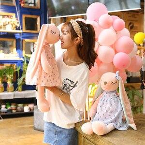 Милые Мультяшные длинные уши кроликов куклы детские мягкие плюшевые игрушки для детей Кролик спальный мат мягкие плюшевые игрушки младенцев #30